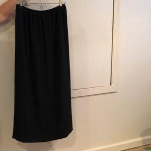 Gina Bacconi black full length skirt